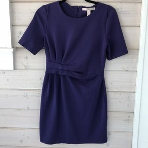 Plum fitted dress